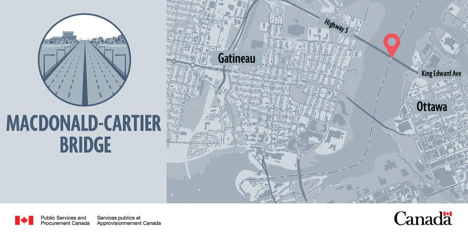 Macdonald-Cartier Bridge (CNW Group/Public Services and Procurement Canada)