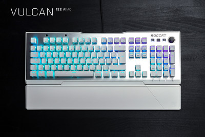 The Vulcan 122 AIMO is all-new Arctic White color of ROCCAT's award-winning Vulcan 120 AIMO PC gaming keyboard. MSRP $159.99.