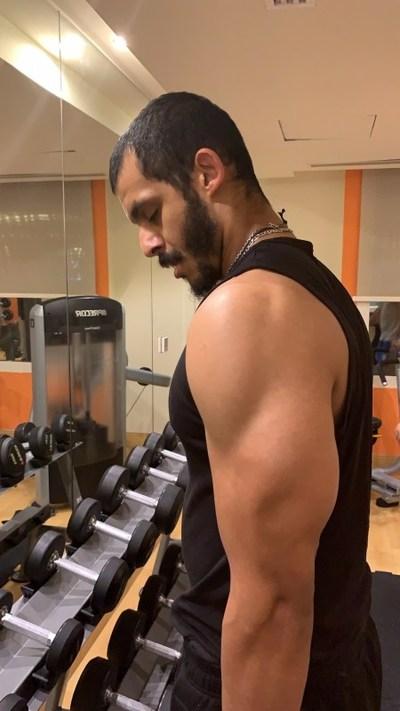 Mizo Amin working out on his body for new season
