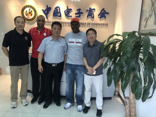 The SchollyME team, Melvin Nunnery and Scott Carper, in Beijing, visiting with Liu Yufeng - VP and Kenneth Chang  - VP Esports Division.