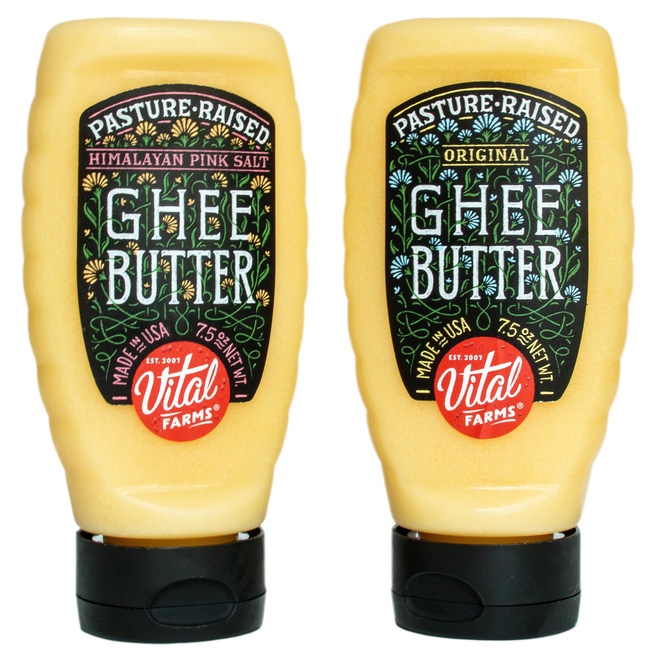 Vital Farms Pasture-Raised Ghee Butter in a squeeze bottle