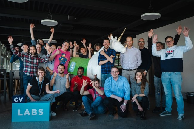 The Assembl team and the team at CV Labs, along with the 11 other companies involved in the CV Labs incubation program, at the CV Labs offices in Zug, Switzerland. See https://cvvc.com/incubation for more.