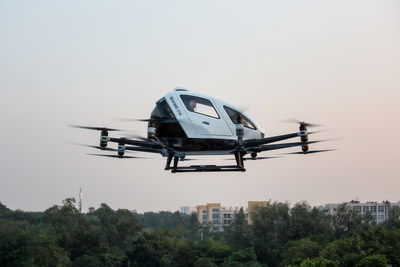 EHang Achieves one of the World's First Certificate of Unmanned Aircraft System Safety for AAVs