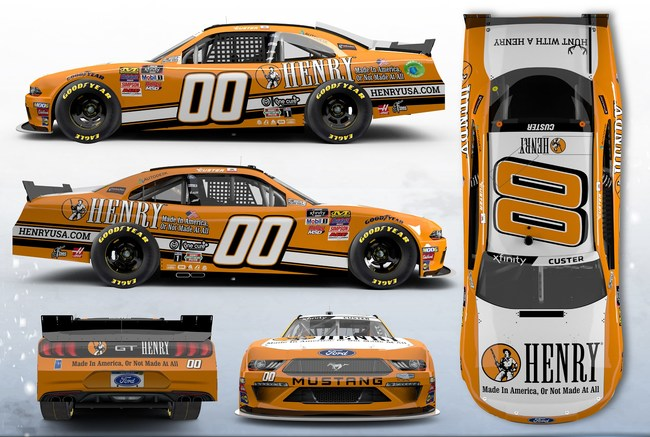 The Henry Repeating Arms No. 00 Ford Mustang will be driven by Stewart-Haas Racing with Fred Biagi driver Cole Custer in the NASCAR Xfinity Series CTECH Manufacturing 180 at Road America on August 24, 2019.