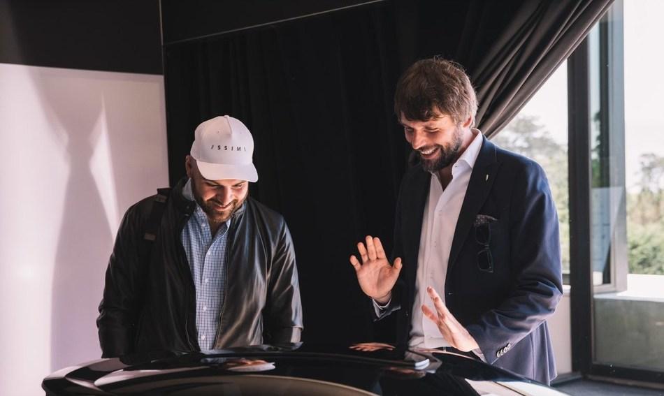 Luca Borgogno Automobili Pininfarina Design Director with PURA Vision design model