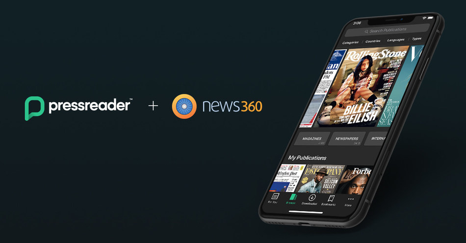 PressReader, the world's premium newspaper and magazine platform, today announced its acquisition of News360 - a leader in content personalization and publisher analytics. (CNW Group/PressReader)