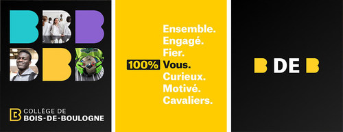 Un aperçu de la nouvelle identité visuelle du Collège de Bois-de-Boulogne (Groupe CNW/Collège de Bois-de-Boulogne)
