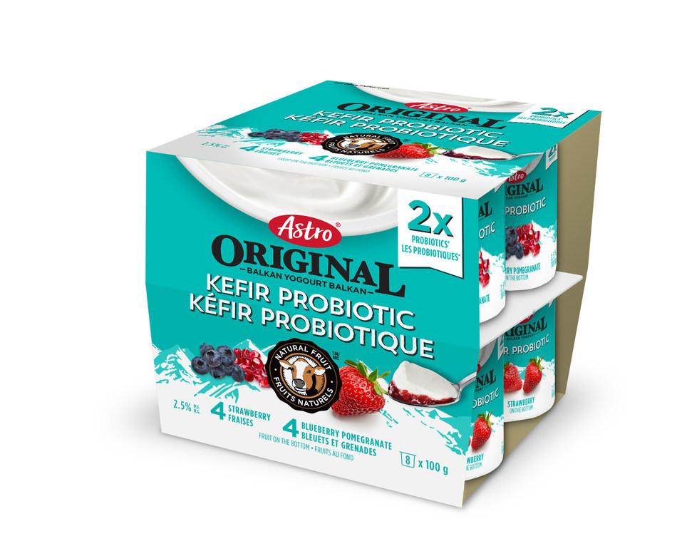 Astro Original Kefir Probiotic Yogourt Multipack, Strawberry/Blueberry Pomegranate (CNW Group/Parmalat Canada)