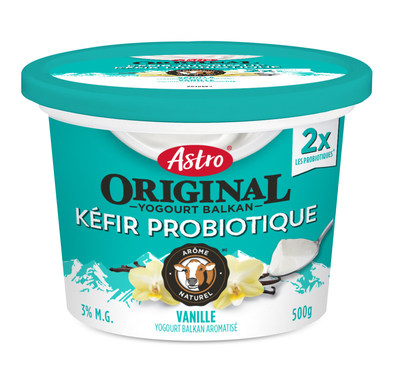 Yogourt Kéfir Probiotique Astro Original en pot, vanille (Groupe CNW/Parmalat Canada)