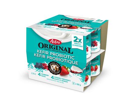 Yogourt Kéfir Probiotique Astro Original emballages multiples, fraises / bleuets grenades (Groupe CNW/Parmalat Canada)