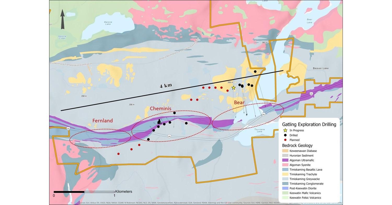 Gatling Drills High-Grade, Near Surface Gold at Cheminis