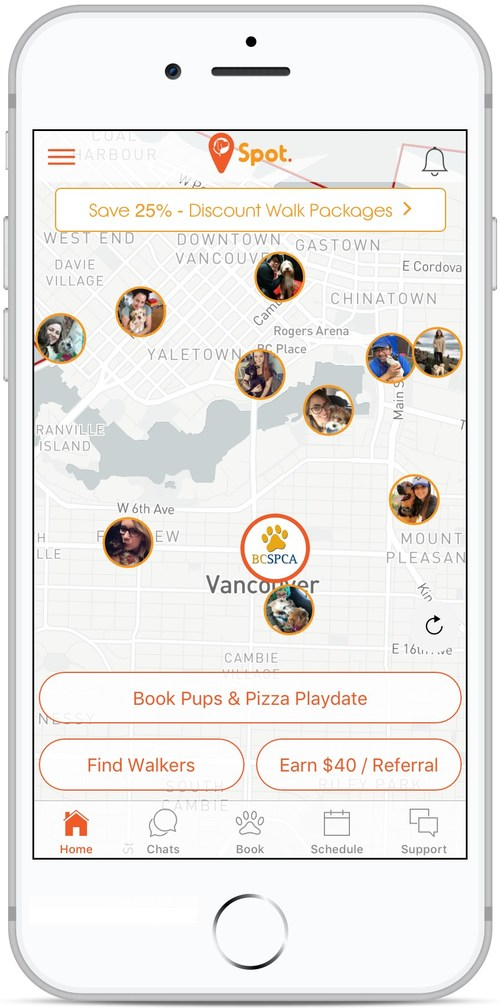 On Demand: Puppies and Pizza (CNW Group/Spot Dog Walking)