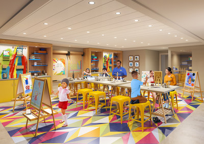 The award-winning Adventure Ocean program will be reimagined from top to bottom on board Freedom of the Seas. Younger kids can choose their own immersive adventures across entirely new areas, including Workshop. Workshop will offer a variety of activities that range from hands-on art, science and tech fun.