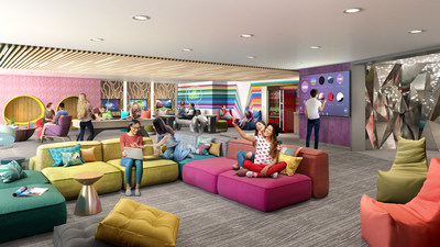 Following a 360-degree transformation, the dedicated teens spaces on board the amplified Freedom of the Seas will be where teens have the independence to choose how they spend their time. The exclusive lounge will feature the latest gaming consoles, music and movies, places to hang out, and a new outdoor deck.