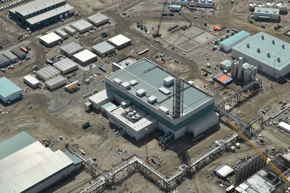 The seven-story Hanford Low-Activity Waste Facility will treat liquid radioactive waste by melting it with sand into a solid, glasslike form for permanent disposal.
