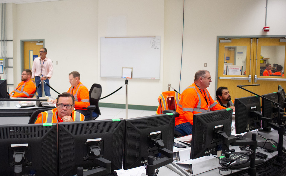 The control room for the Low-Activity Waste Facility opened for the first time this week. It will be the nerve center for continued startup and commissioning, as well as treatment operations once the facility opens.