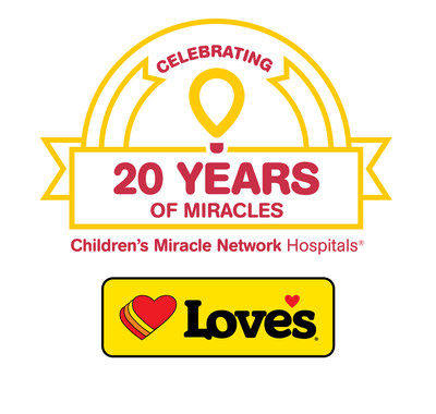 Love's 20th annual Children's Miracle Network Hospitals campaign to take place Aug. 26 – Sept. 30