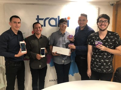 """Michael Gomez (second to the left), Chief of Crypto Assets department of Traki, said, """"At Traki, we aspire to offer the most convenient options for our customers, and cryptocurrency has proven to be an effective payment solution."""""""