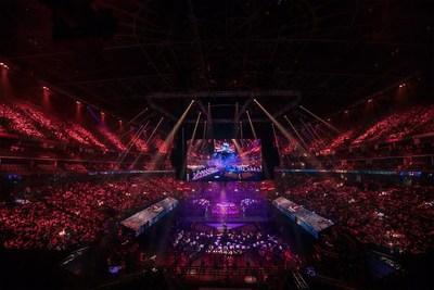 La cérémonie d'ouverture du tournoi The International 2019 du jeu Dota 2. (PRNewsfoto/Perfect World Co., Ltd.)