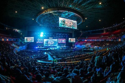 Le tournoi Dota 2 Asia Championships (DAC) de 2015. (PRNewsfoto/Perfect World Co., Ltd.)