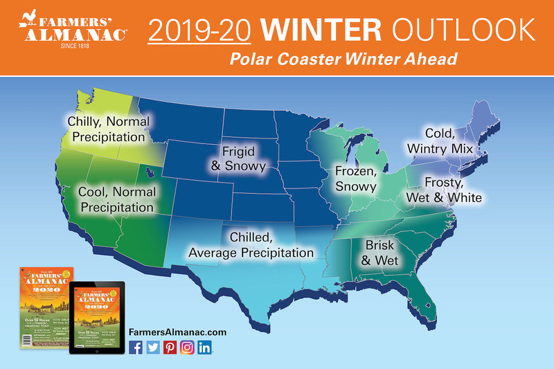 Ready for a wild ride? Farmers' Almanac releases its winter outlook.
