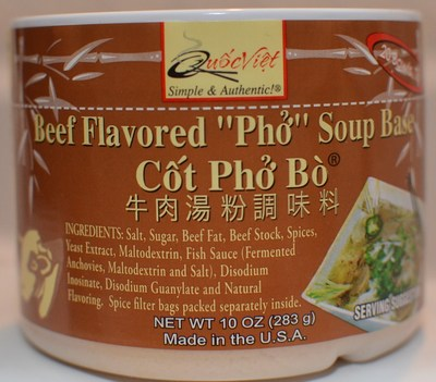 Quoc Viet Foods' Cot Pho Bo Brand of Soup Base Product