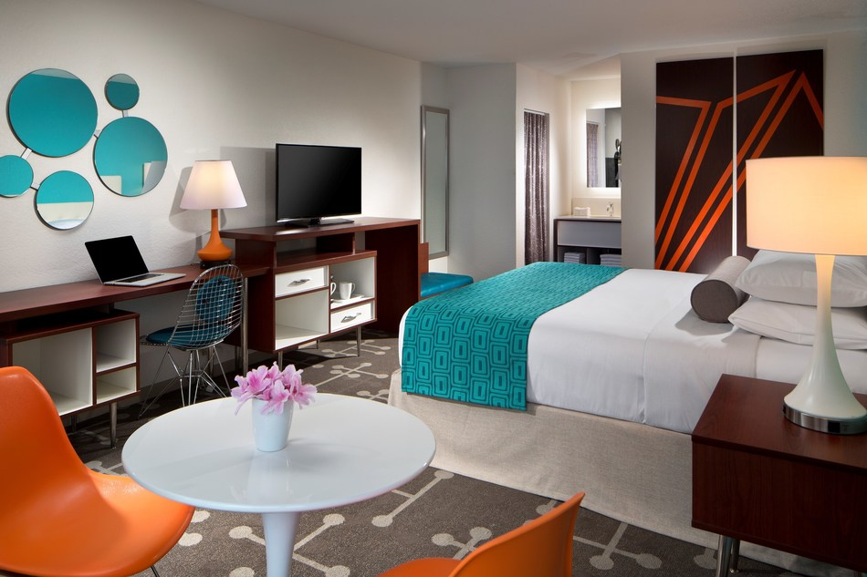 Marking its largest design-refresh in more than 25 years, Howard Johnson by Wyndham's newly redesigned retro-cool guestrooms give a playful nod to the nostalgic days of orange roofs, ice cream and family road trips.