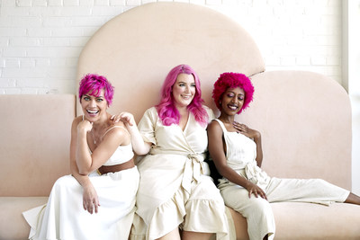 From left: Coloring Conditioner in Vibrant, Pastel, and Extreme Magenta shades