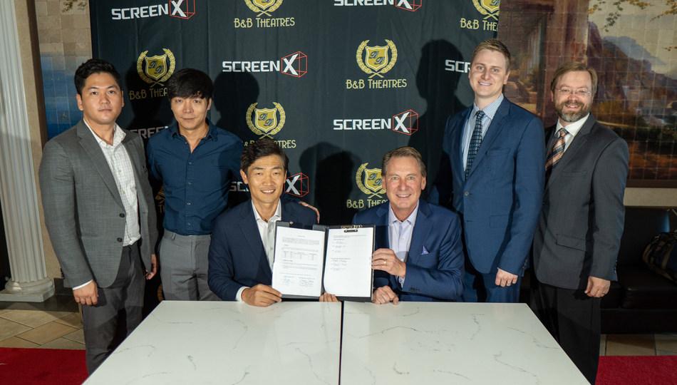 CJ 4DPLEX and B&B signing.