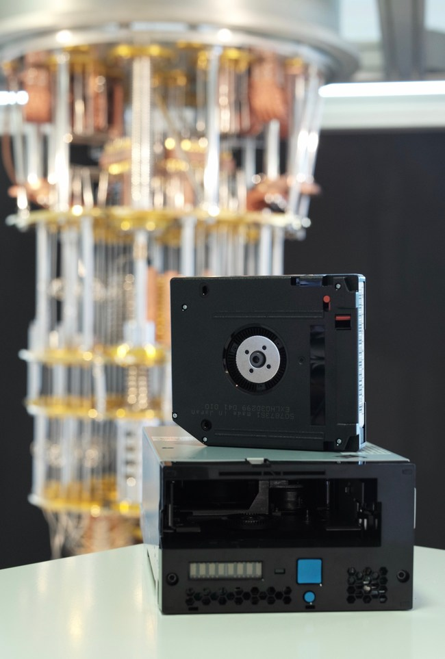 IBM took a major step today towards maintaining the highest level of security of its client's data and privacy in the future from fault-tolerant quantum computers with the demonstration of the world's first quantum computing safe tape drive prototype. Credit: IBM Research