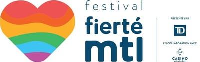 Logo : Fierté Montréal (Groupe CNW/Célébrations de la Fierté Montréal)