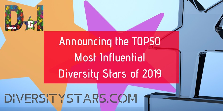 TOP50 Most Influential Diversity Stars of 2019 Announcement