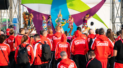 The Canadian Parapan Am Team viewing a performance during the team welcome ceremony at the Athletes Village on Thursday / PHOTO: Canadian Paralympic Committee (CNW Group/Canadian Paralympic Committee (Sponsorships))