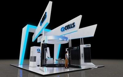Gráfico del puesto de exposición de Q CELLS en Intersolar South America 2019