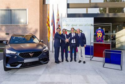 CUPRA y el FC Barcelona unen sus fuerzas en una alianza global