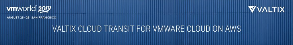 Valtix announces the Valtix Cloud Transit with AWS Transit Gateway at VMworld 2019. It enables seamless network security across VPCs. Valtix will expand its Cloud-native Network Security Platform to VMware Cloud on AWS; enabling organizations to discover applications on VMware Cloud on AWS, deploy network security through AWS Transit Gateway and defend those applications wherever they go.