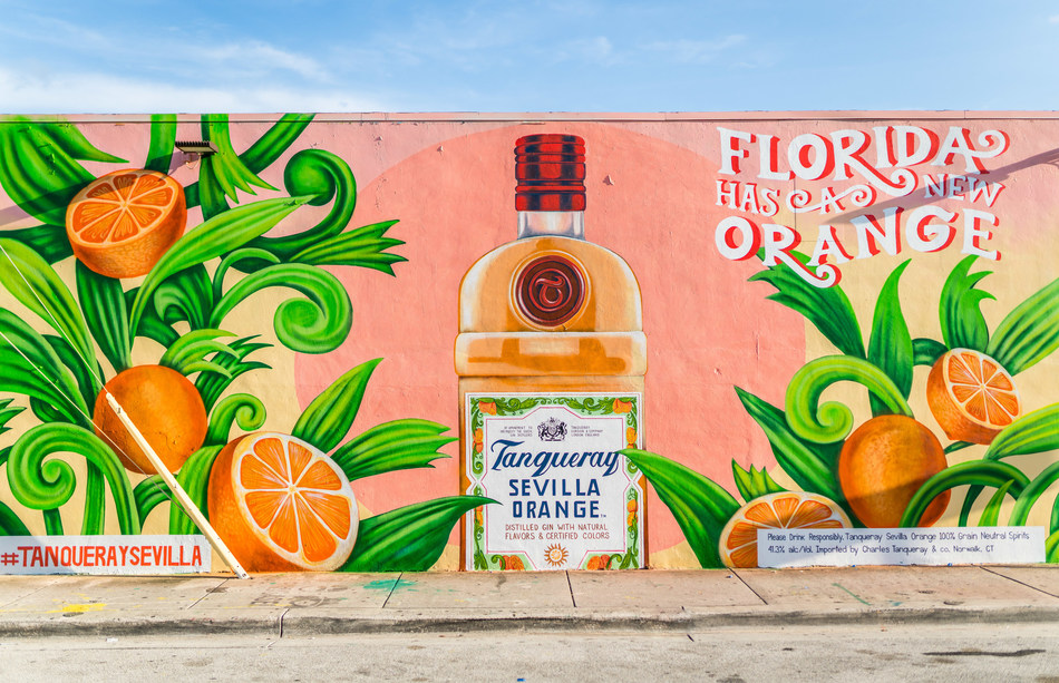 Tanqueray Sevilla Orange unveils a Wynwood mural in celebration of launching in Miami and Orlando.