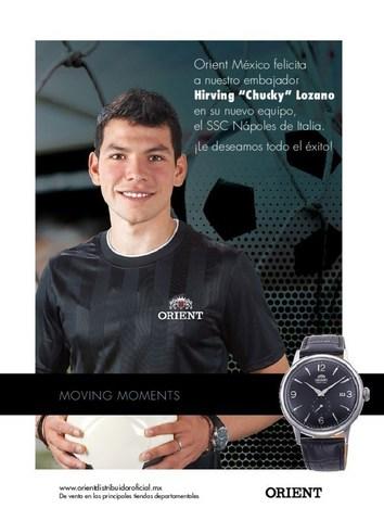 Relojes Orient felicita a su embajador de marca El Chucky Lozano