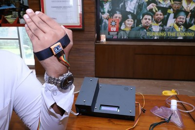 IoT based Patient Assistance System developed by mechatronics engineering students of Chandigarh University that can help paralytic and physically impaired patients to ask for assistance with the help of gestures