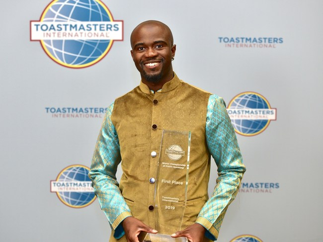 2019 Toastmasters World Champion of Public Speaking, Aaron Beverly