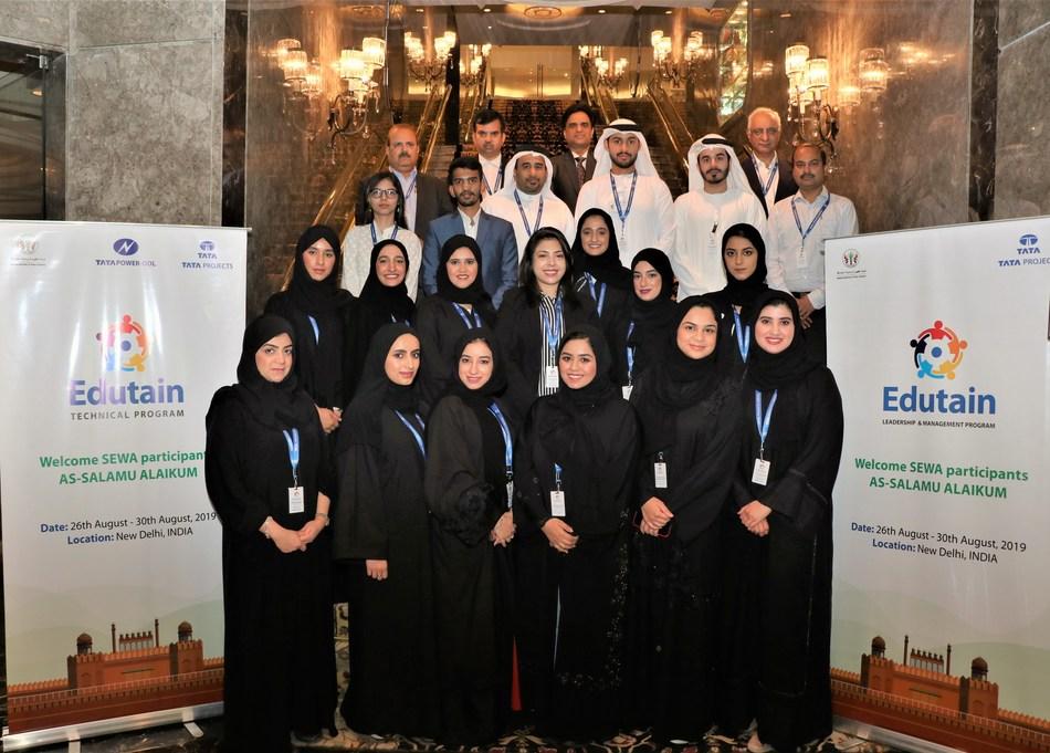 Delegation from SEWA attending Edutain Program by Tata Projects Ltd