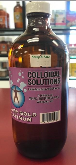 « Colloidal Silver Gold Platinum » de Colloidal Solutions (Groupe CNW/Santé Canada)