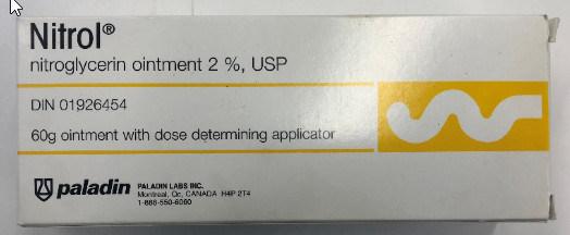 Nitrol (anti-angina ointment) (CNW Group/Health Canada)