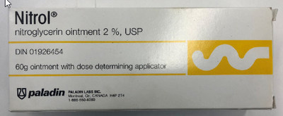 Nitrol (onguent anti-angine) (Groupe CNW/Santé Canada)