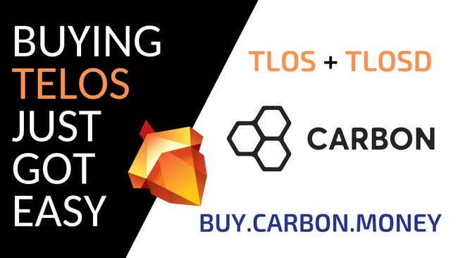 The Telos Blockchain and Carbon.money partner on TLOSD. An official USD backed stable coin for the Telos network. (PRNewsfoto/Telos Foundation)