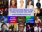 4th Annual Kids Music Day; Friday, October 4th 2019; 600+ Locations Participating Worldwide