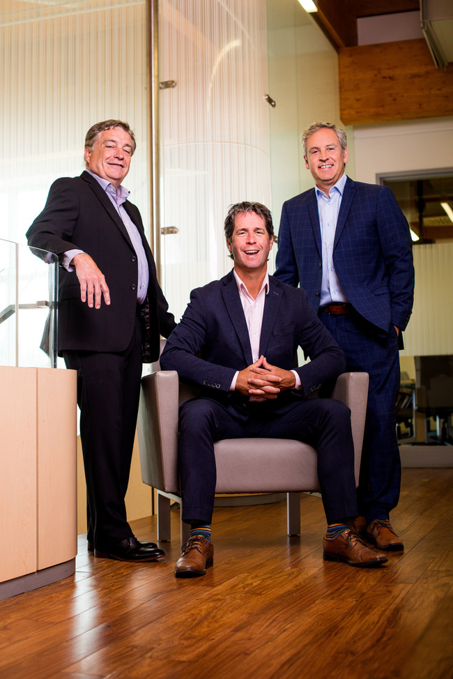 TeraXion's executive management team, from left to right : Richard Kirouac, Ghislain Lafrance and Alain-Jacques Simard (CNW Group/TeraXion Inc.)