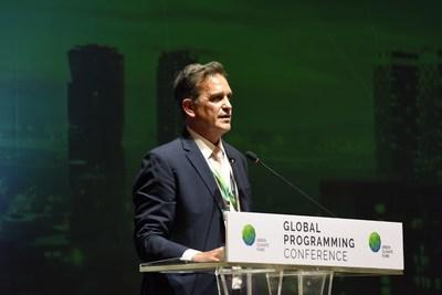 O diretor-executivo interino do GCF, Javier Manzanares, anunciou a criação dos prêmios durante a Conferência de Programação Global do GCF, em Songdo, República da Coreia.