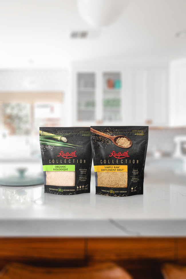 Redpath Sugar's new product line launches with two premium sugars: Simply Raw Turbinado and Organic Granulated (CNW Group/Redpath Sugar)