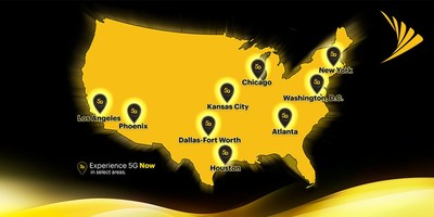With today's launch, Sprint's True Mobile 5G service is now available in areas of nine markets.